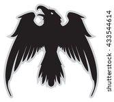 dark evil heraldic raven with... | Shutterstock .eps vector #433544614