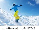 winter vacation   man... | Shutterstock . vector #433546924