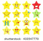 stars smile set vector   Shutterstock .eps vector #433547770