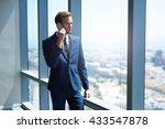handsome young business... | Shutterstock . vector #433547878