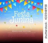 brazil festival festa junina... | Shutterstock .eps vector #433548958