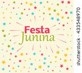 festa junina celebration... | Shutterstock .eps vector #433548970