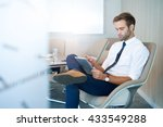 young businessman in modern... | Shutterstock . vector #433549288