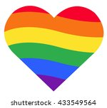 rainbow flag lgbt symbol on... | Shutterstock .eps vector #433549564