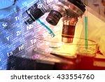 scientist with equipment... | Shutterstock . vector #433554760