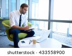 handsome young business... | Shutterstock . vector #433558900