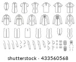 set of female and male shirts ... | Shutterstock .eps vector #433560568