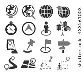 location  place icon set | Shutterstock .eps vector #433561003