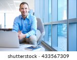 handsome middle aged business... | Shutterstock . vector #433567309