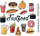 set of fastfood | Shutterstock .eps vector #433570024
