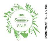 big summer sale banner. | Shutterstock .eps vector #433572508