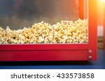 a pile of popcorn in a popcorn...   Shutterstock . vector #433573858