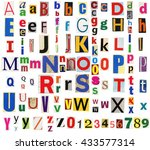 big size collection of colorful ... | Shutterstock . vector #433577314