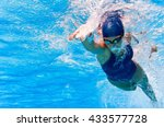 Underwater Image Of Swimmer In...