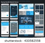 startup bundle material series. ... | Shutterstock .eps vector #433582558