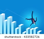 businessman  falling on...   Shutterstock .eps vector #433582726