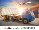containers shipping and... | Shutterstock . vector #433585804