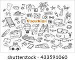 hand drawn doodles of the... | Shutterstock .eps vector #433591060