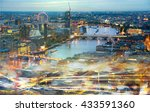 london at sunset  river thames... | Shutterstock . vector #433591360