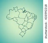 map of brazil   Shutterstock .eps vector #433592218