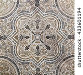 Flower Ornamental Vintage Tile...