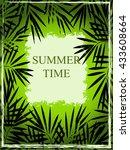 grange summer background with... | Shutterstock .eps vector #433608664