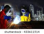 Industrial Worker Welding Meta...
