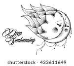 Bohemian Sun And Moon. Editable ...