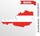 austria map with flag inside... | Shutterstock .eps vector #433613470