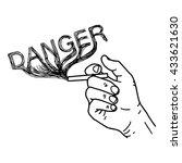 illustration vector hand draw... | Shutterstock .eps vector #433621630