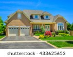 custom built luxury house in... | Shutterstock . vector #433625653