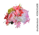beautiful bright bouquet of... | Shutterstock . vector #433631608