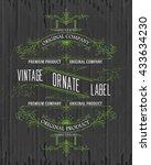 vintage typographic label... | Shutterstock .eps vector #433634230
