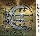 bank vault door. business... | Shutterstock . vector #433639720