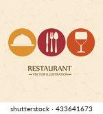 restaurant menu design  | Shutterstock .eps vector #433641673