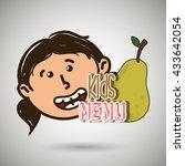 kids menu design    Shutterstock .eps vector #433642054
