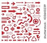 various vector arrows.  | Shutterstock .eps vector #433643239