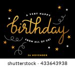 hello gold foil abstract... | Shutterstock .eps vector #433643938