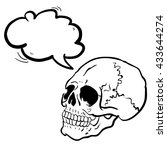 black and white another skull...   Shutterstock .eps vector #433644274