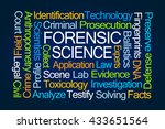 forensic science word cloud on... | Shutterstock . vector #433651564