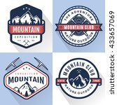set of logo  badges  banners ... | Shutterstock .eps vector #433657069