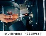 hand holding a probe of fresh... | Shutterstock . vector #433659664