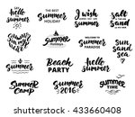 summer hand drawn brush... | Shutterstock .eps vector #433660408