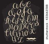 hand written calligraphy... | Shutterstock .eps vector #433663588