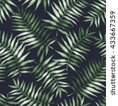 tropical seamless pattern with... | Shutterstock .eps vector #433667359