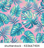 tropical seamless pattern with... | Shutterstock .eps vector #433667404