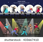 color flat horizontal banner... | Shutterstock .eps vector #433667410
