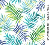 tropical seamless pattern with... | Shutterstock .eps vector #433667518