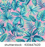 tropical seamless pattern with... | Shutterstock .eps vector #433667620