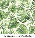 tropical seamless pattern with... | Shutterstock .eps vector #433667674